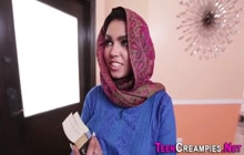 Arabic teen with huge tits gets creampie